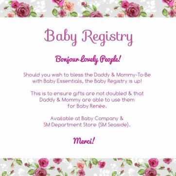 Baby Registry Announcement