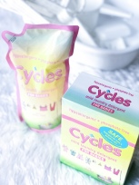 Cycles (For washing baby's clothes & etc. I Available at Groceries, Baby Company & Department Stores)